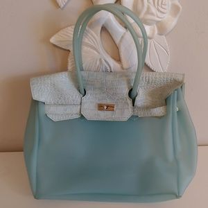 Handbags - Beach or pool bag with leather trim